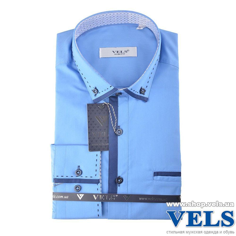 5bf7a5bb19d Рубашка мужская приталенная VELS 69-1 купить по сниженной цене в ...