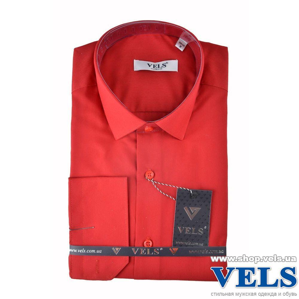 1a1279ac938 Красную приталенную мужскую рубашку VELS 31 купить недорого в Киеве ...