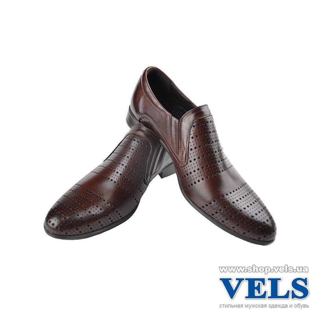 647c6a1f383899 Туфлі чоловічі шкіряні Vels З5527 коричневого кольору (Польща ...